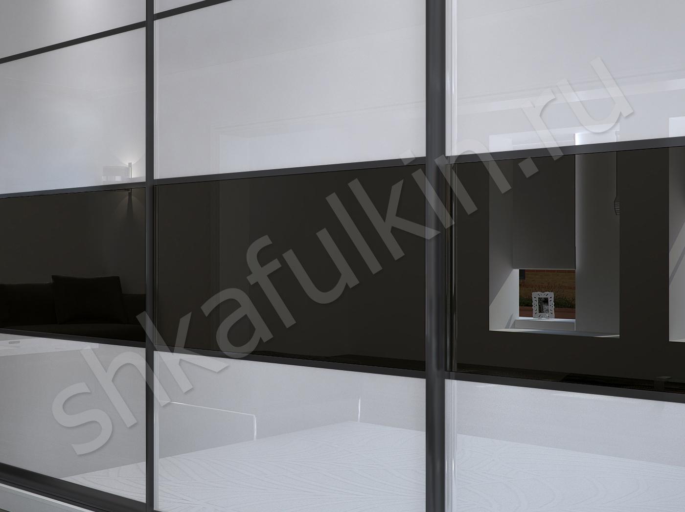 Фото шкафа-купе черно-белого цвета